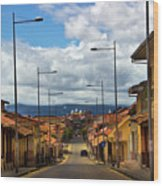 The Inca Trail Passes Through Cuenca II Wood Print