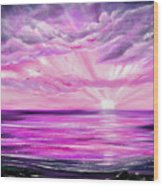 The Incredible Journey - Purple Sunset Wood Print