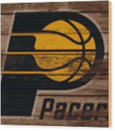 The Indiana Pacers 3b Wood Print
