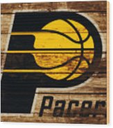 The Indiana Pacers 3c Wood Print
