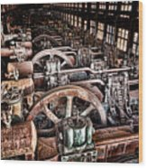The Industrial Age Wood Print