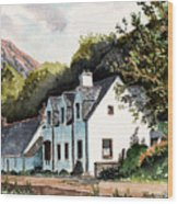 The Inn Scotland Wood Print