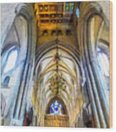 The Interior Of The Southwark Cathedral  Wood Print