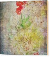 The Introverted Tulip Wood Print