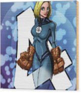 The Invisible Woman Wood Print