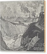 The Iron Mine Wood Print