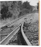 The Iron Road Wood Print