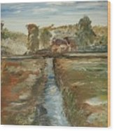 The Irrigation Canal Wood Print