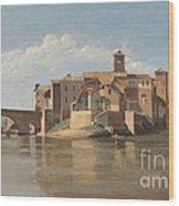 The Island And Bridge Of San Bartolomeo - Rome Wood Print