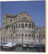 The Island Of Murano Is A Quiet Islan Wood Print by Taylor S. Kennedy