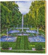 The Italian Water Gardens Wood Print