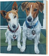 The Jack Russel Duo Wood Print