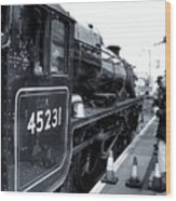 The Jacobite At Mallaig Station Platform 3 Wood Print