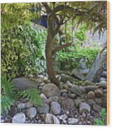 The Japanese Garden Wood Print