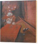 The Jazz Club Wood Print