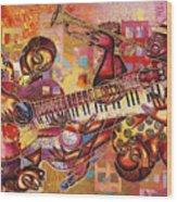 The Jazz Dimension  Wood Print