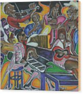 The Jazz Orchestra Wood Print