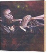 The Jazz Player Wood Print