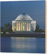 The Jefferson Memorial Wood Print by Peter Newark American Pictures