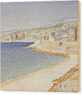 The Jetty At Cassis Wood Print