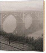 The Jogger Wood Print