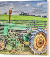 The John Deere Tractor Wood Print
