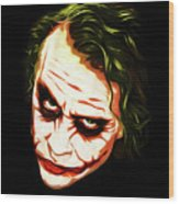 The Joker - Pop Art Wood Print