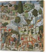 The Journey Of The Magi To Bethlehem Wood Print