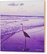 The Joy Of Ocean And Bird 2 Wood Print