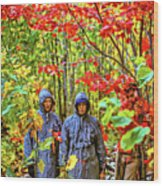 The Joys Of Autumn Camping Wood Print