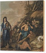 The Judgement Of Midas In The Contest Between Apollo And Pan Wood Print