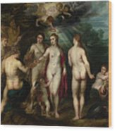 The Judgment Of Paris Wood Print