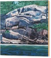 The Jumping Rock - Midday Wood Print