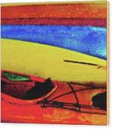 The Kayaks Wood Print