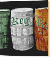 The Keg Room Irish Flag Colors Old English Hunter Green Wood Print