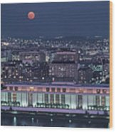 The Kennedy Center Lit Up At Night Wood Print by Kenneth Garrett