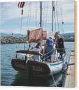The Ketch Golden Rule Wood Print