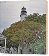 The Key West Lighthouse Wood Print