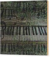 The Keyboard Wood Print