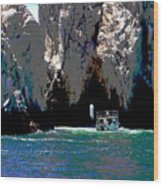 The Keyhole Mexico Cabo San Lucas Wood Print