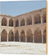 The Khan, Also Known As A Caravanserai, In Akko, Israel Wood Print