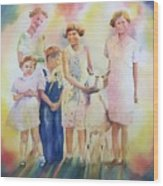 The Kids And The Kid Wood Print