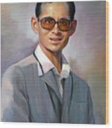 The King Bhumibol Wood Print