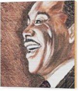 The King Smiles Wood Print