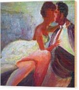 The Kiss Wood Print