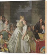 The Kiss Of Protection By The Local Chatelaine  Wood Print