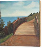 The Kissing Bridge Wood Print