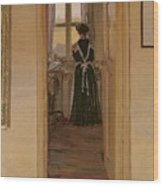 The Kitchen Wood Print by Harold Gilman