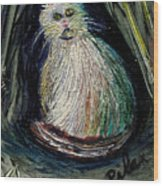 The Kitty Cat Wood Print