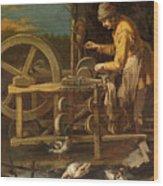 The Knife-grinder Wood Print
